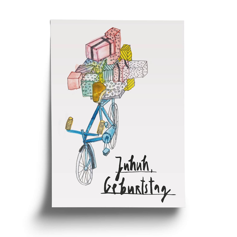 Postkarte Juhuh Geburtstag Gratulation Fine Heininger