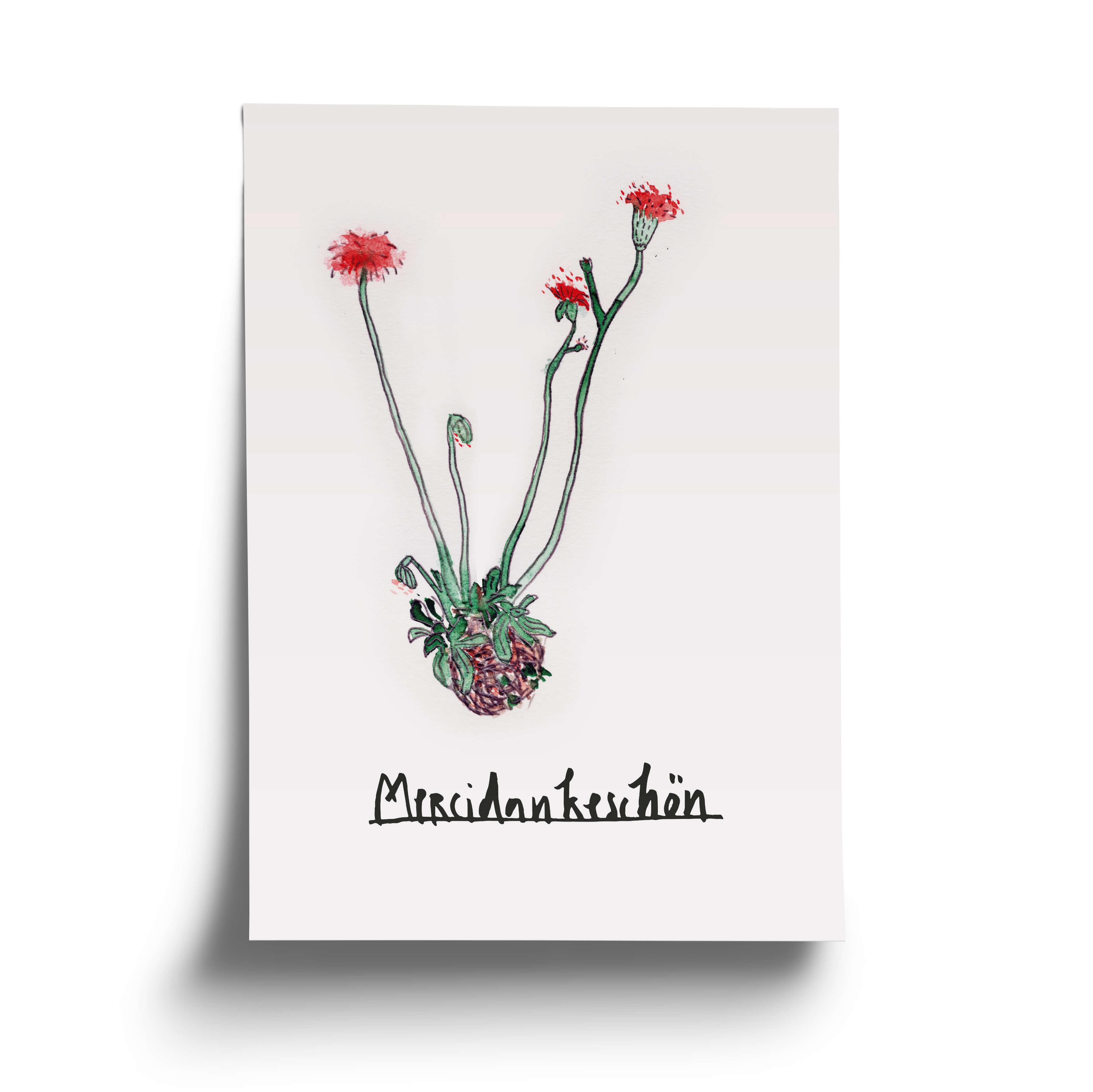 Danksagungs-Postkarte – Die Oma von gegenüber hat deine Pflanzen gegossen, der Nachbar die Zeitung aus dem Briefkasten gerettet, deine Freundin die Katze gefüttert und der Kollege den ultimativen Urlaubstip gegeben? Es ist Zeit für ein Dankeschön – Blumen aus Pappe für die Wand, den Schreibtisch und den geheimen Briefkasten. Offset Print auf FSC zertifiziertem Papier Limitiert auf 100 Stk.