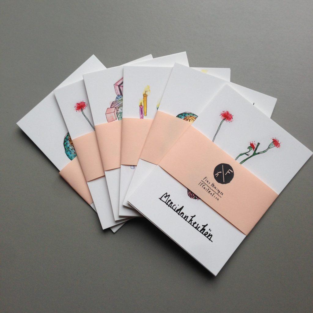 Fine Heininger Postkarten Paket Illustration Glückwunsch Grußkarten Danke Merci Baby Geburtstag Alles Gute