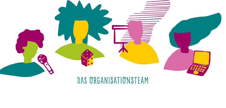 Fine Heininger. Illustration, Berlin, Spiel-Illustration, Deutscher Bundesjugendring, DBJR, EU und Du, YOUth ACTion, Organisationsteam
