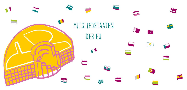 Fine Heininger. Illustration, Berlin, Spiel-Illustration, Deutscher Bundesjugendring, DBJR, EU und Du, YOUth ACTion, mitgliedstaaten in der EU